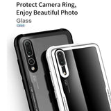 Huawei Hybrid Glass Back Shock Proof Case - Phonecase.PK