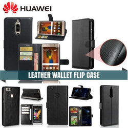 HUAWEI LEATHER FLIP CASE FLIP WALLET CARD HOLDER CASE - Phonecase.PK