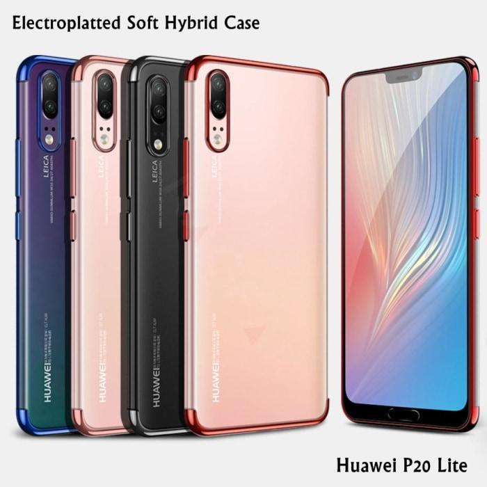 newest collection ac028 e13e4 Huawei P20 Lite Electroplatted TPU soft Transparent Case