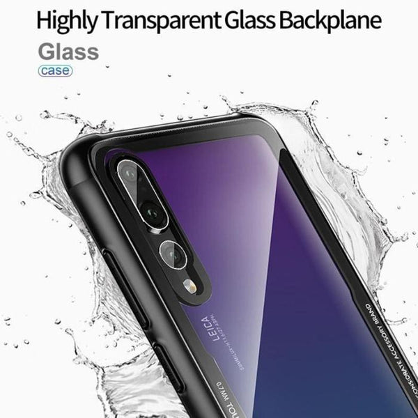Huawei P20 Lite Hybrid Glass Back Shock Proof Case