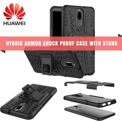 Hybrid Armor Shock Proof Case With Stand For Huawei