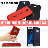 Hybrid Branded Finger Loop Holder Case For Samsung