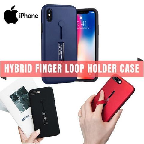 Hybrid Branded Loop Finger Stand Case Iphone