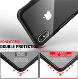 Hybrid Glass Back Shock Proof Case Iphone