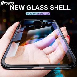 Hybrid Glass Back Shock Proof Case Samsung