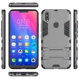 Hybrid Iron Man Full Protective Cover+Kick Stand For Vivo Vivo V9/v9 Youth/y85 / Gray