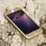 Iphone 360 Degree Case+Free Glass For All Iphone Models 6Plus/6Splus / Gold Mobile Case