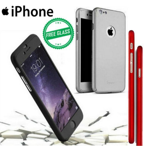 Iphone 360 Degree Case+Free Glass For All Iphone Models Mobile Case