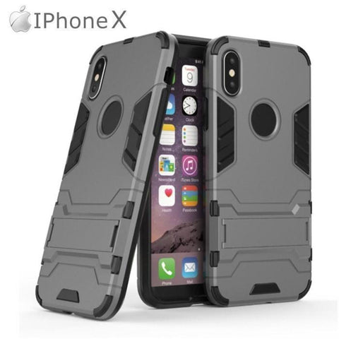Iphone X Series Hybrid Tpu+Pc Iron Man Armor Shield Case