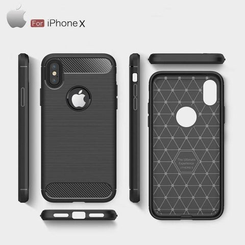 Iphone X/xs Carbon Wire-Drawing Case