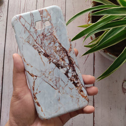SAMSUNG GALAXY J4 PLUS (2018) White & Gold Marble Case C-032