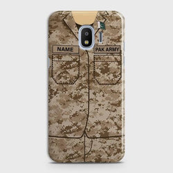 Samsung Galaxy J4 Army shirt with Custom Name Case