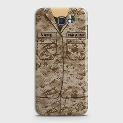 Samsung Galaxy j5 Prime Army shirt with Custom Name Case
