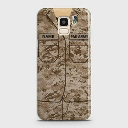 Samsung Galaxy J6 Army shirt with Custom Name Case