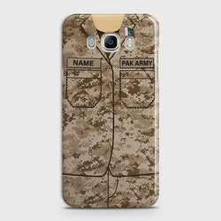 Samsung Galaxy j7(2016) Army shirt with Custom Name Case