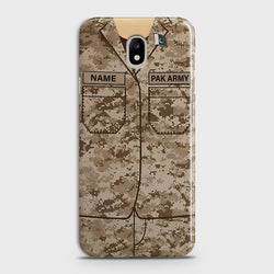 Samsung Galaxy j7(2017) Army shirt with Custom Name Case