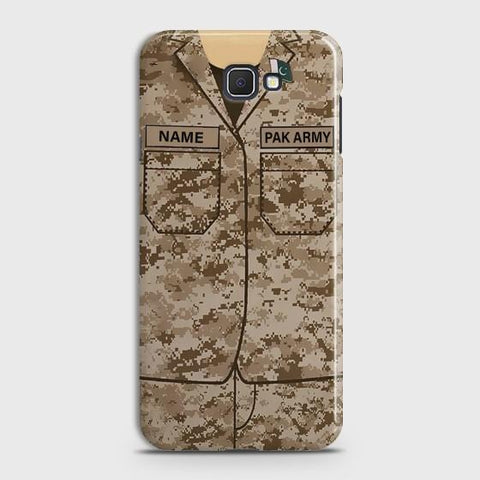 Samsung Galaxy j7 Prime Army shirt with Custom Name Case