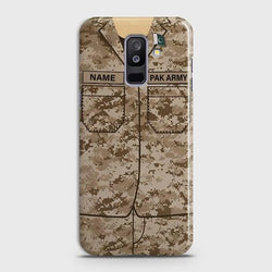 Samsung Galaxy J8 2018 Army shirt with Custom Name Case