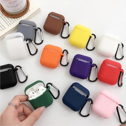 Apple AirPods 1/2 Silicone Shockproof Cover with Anti-Lost Buckle