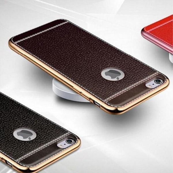 Leather Electroplated Case For Iphone All Models