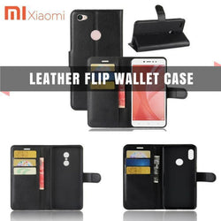 Leather Flip Wallet Case Xiaomi Redmi