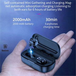 Baseus W01 TWS Bluetooth Earphone Wireless Headphone Bluetooth 5.0 Stereo Bass Wireless earphones With HD Microphone