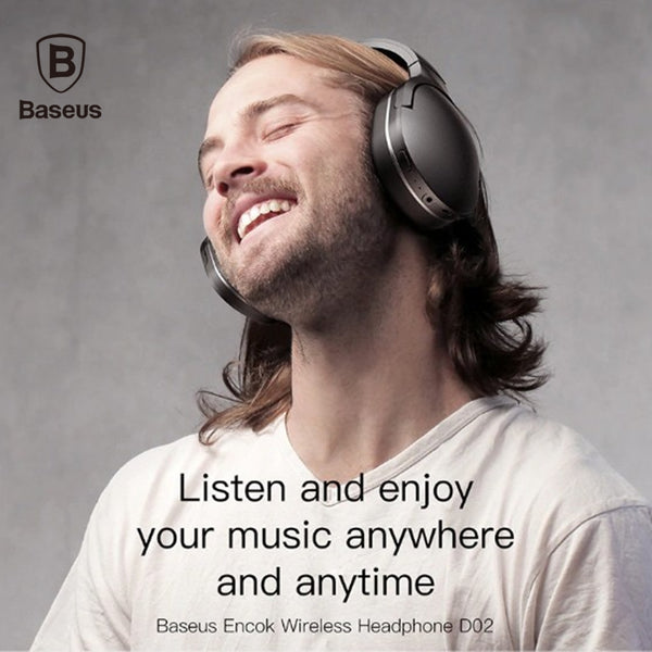 Baseus D02 Wireless Headphone Bluetooth 5.0 Earphone Handsfree Headset