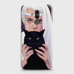 Huawei Mate 20 Lite Wild Black Cat Phone Case