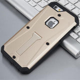 Military Tank Hybrid Armor Stand Case For All Iphone Models 6/6S / Gold