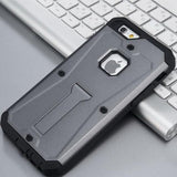 Military Tank Hybrid Armor Stand Case For All Iphone Models 6/6S / Gray