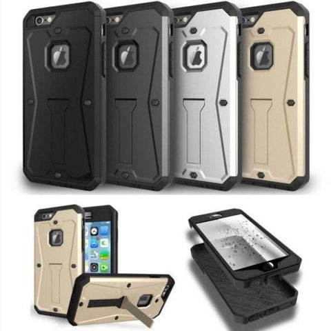Military Tank Hybrid Armor Stand Case For All Iphone Models