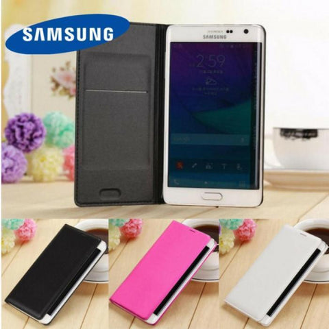 New Luxury Leather Book Flip Case Samsung Note Edge