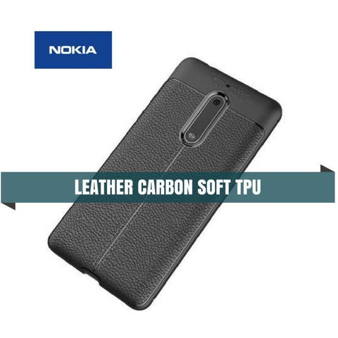 Nokia Carbon Leather Protective Tpu Soft Case