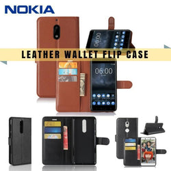 Nokia Leather Flip Case Wallet Card Holder