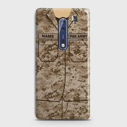 Nokia 8 Army Costume With Custom Name Case
