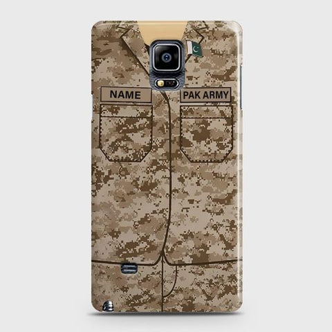 Samsung Galaxy Note 4 Army shirt with Custom Name Case