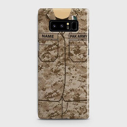 Samsung Galaxy Note 8 Army shirt with Custom Name Case