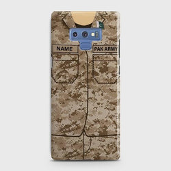 Samsung Galaxy Note 9 Army shirt with Custom Name Case
