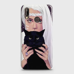 Huawei Nova 3E Wild Black Cat Phone Case