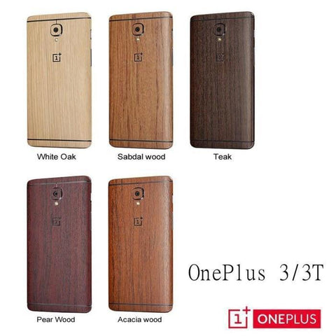 Oneplus 3/3T Front Back Wooden Feel Carbon Skin