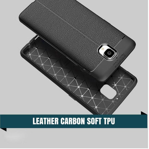 Oneplus 3/3T Leather Carbon Tpu Soft Protective Case