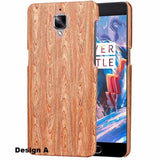 Oneplus 3/3T Wooden Pu Hard Case / Design A
