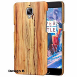 Oneplus 3/3T Wooden Pu Hard Case / Design B