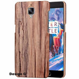 Oneplus 3/3T Wooden Pu Hard Case / Design C