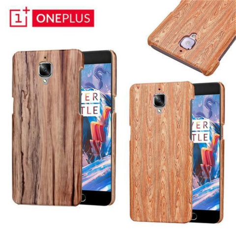 Oneplus 3/3T Wooden Pu Hard Case