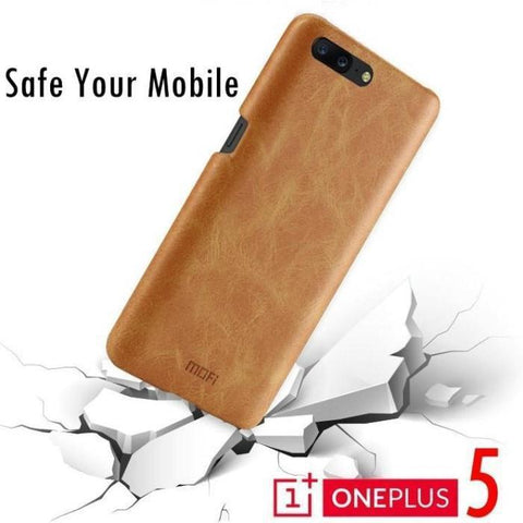 Oneplus 5 Mofi 100% Original Branded Leather Feel Cover