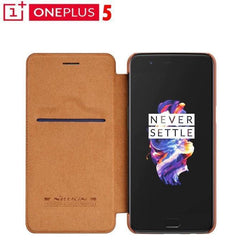 Oneplus 5 Original Nillkin Branded Smart Leather Flip Case