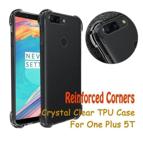 Oneplus 5T Anti-Knock Shock Proof 100% Transparent Cover