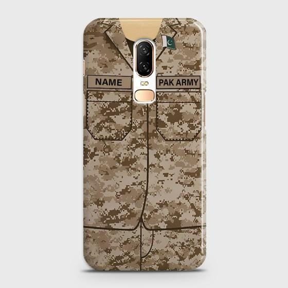 OnePlus 6 Army shirt with Custom Name Case