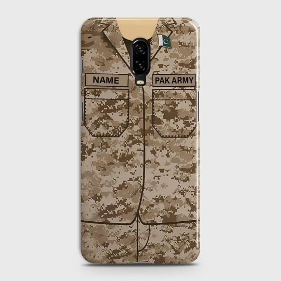 OnePlus 6T Army shirt with Custom Name Case